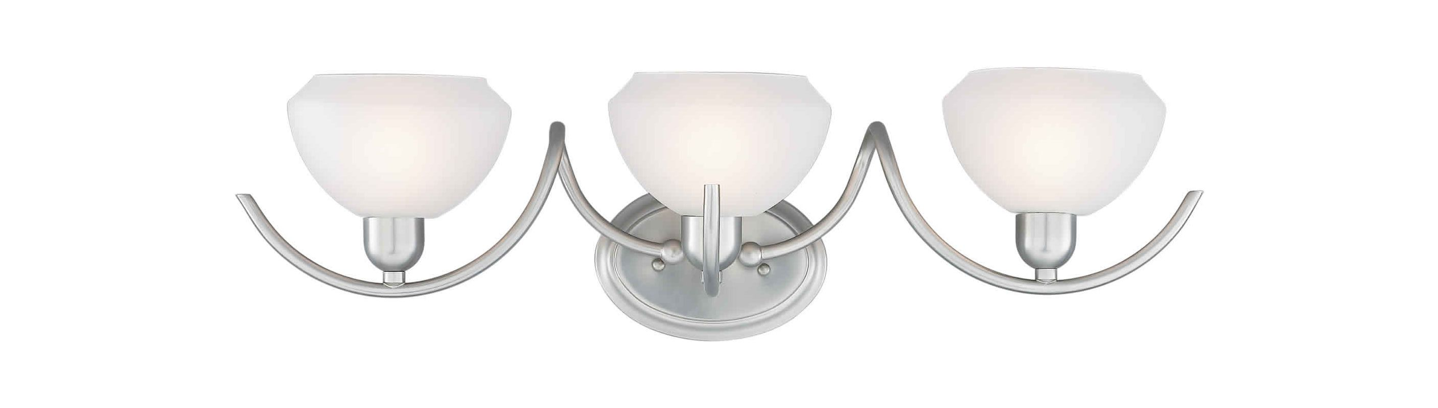 "Forte Lighting 5046-03 3 Light 23.75"" Wide Bathroom Fixture with"