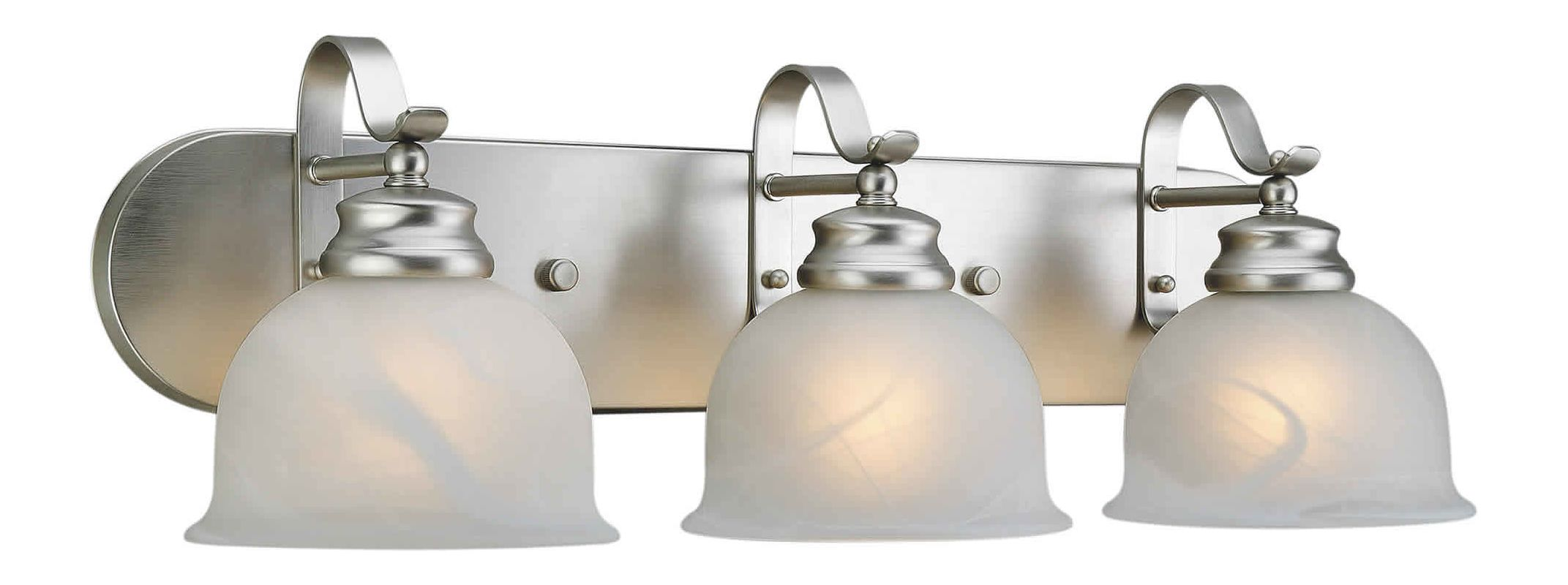 "Forte Lighting 5095-03 3 Light 24"" Wide Bathroom Fixture Brushed"