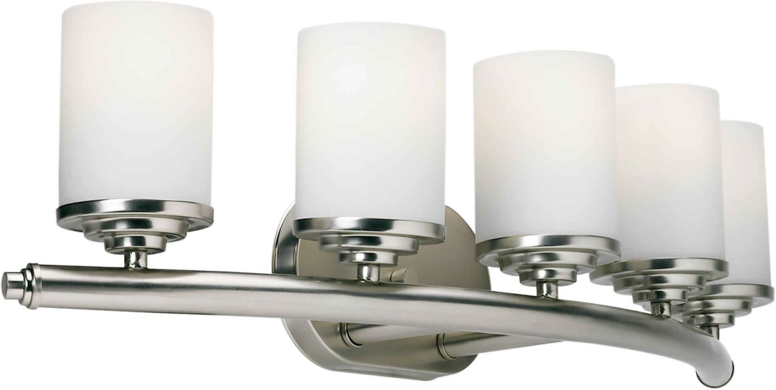 Forte Lighting 5105 05 55 Brushed Nickel 29 Modern 5 Light Bathroom Fixture