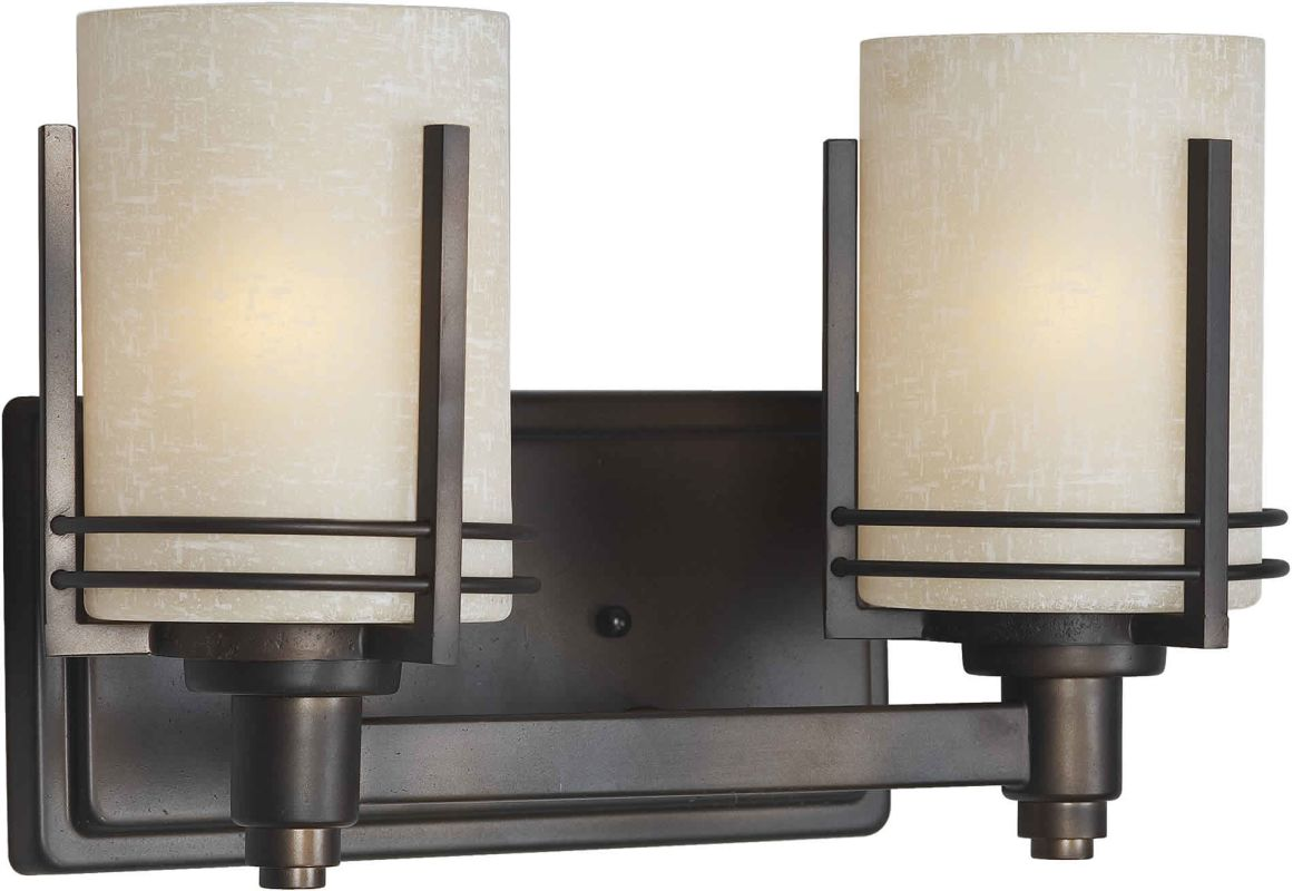 Forte Lighting 5389-02 Double Wall Sconce Antique Bronze Indoor