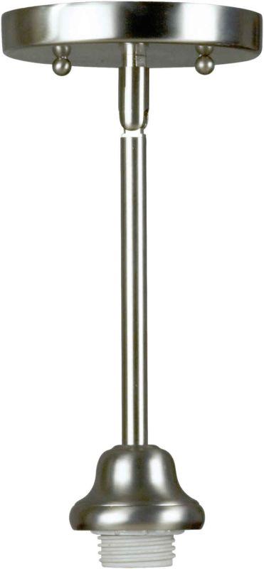 Forte Lighting 89-0123 Single Light Mini Pendant Brushed Nickel Indoor