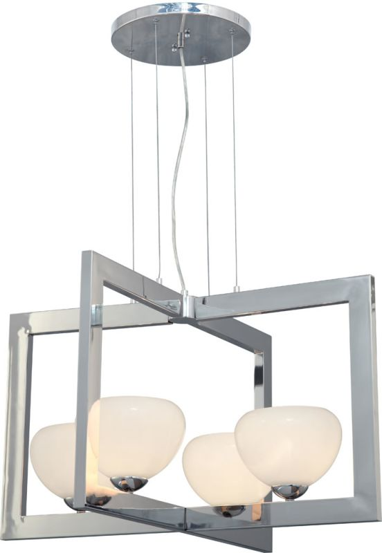 Forte Lighting 2535-04 4 Light Large Pendant Brushed Nickel Indoor