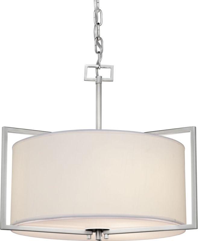 Forte Lighting 2570-03 3 Light Drum Pendant Brushed Nickel Indoor