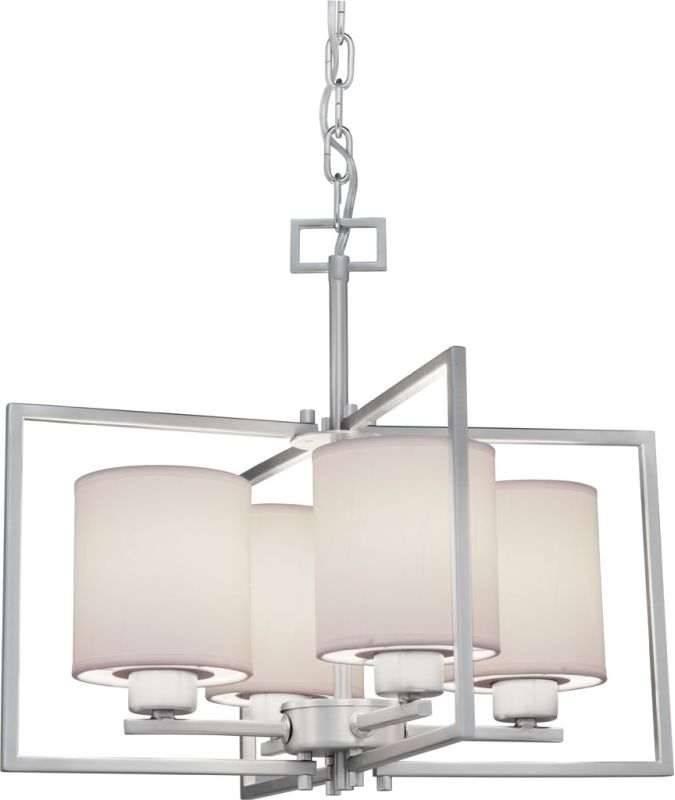 Forte Lighting 2570-04 4 Light 1 Tier Chandelier with Cylinder Shaped