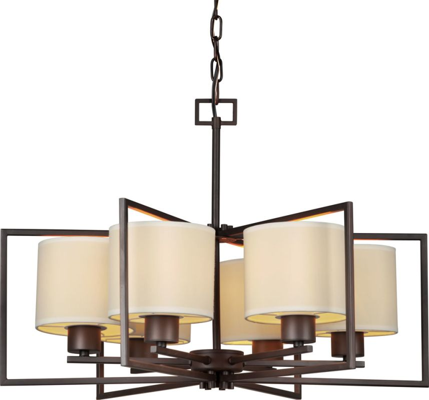Forte Lighting 2570-06 6 Light 1 Tier Chandelier with Drum Shaped Sale $420.00 ITEM: bci2356982 ID#:2570-06-32 UPC: 93185044693 :