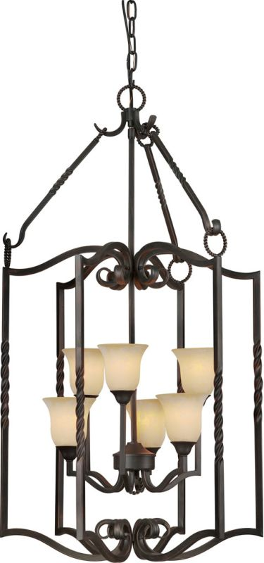 Forte Lighting 2633-06 6 Light Foyer Pendant Bordeaux Indoor Lighting