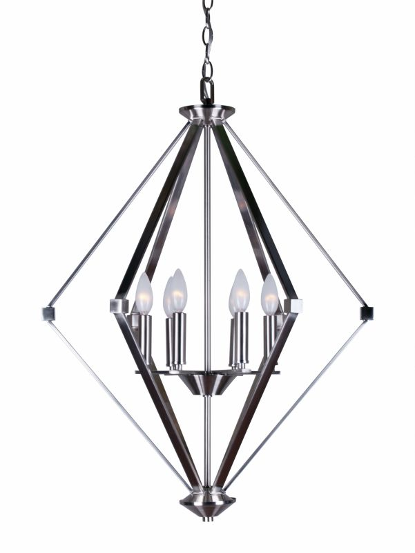 """Forte Lighting 7062-06 6 Light 23.75"""" Wide Candle Style Chandelier"""
