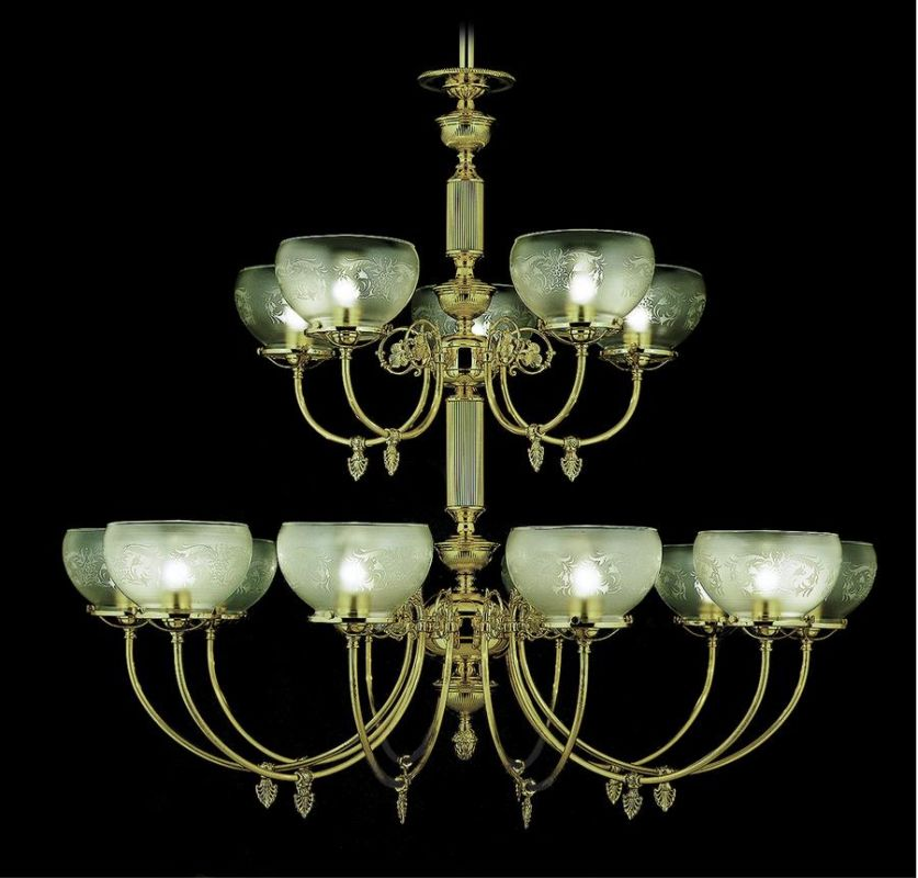 Framburg FR 7515 15 Light Up Lighting Chandelier from the Chancery