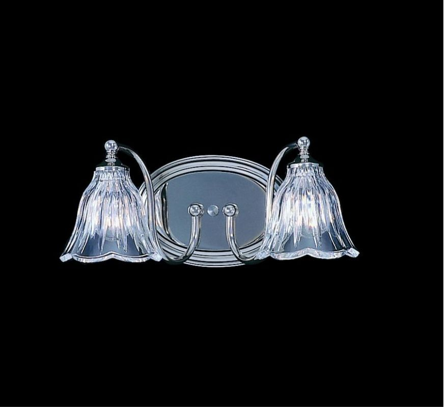 "Framburg FR 8172 2 Light 13"" Wide Bathroom Fixture from the Crystal"