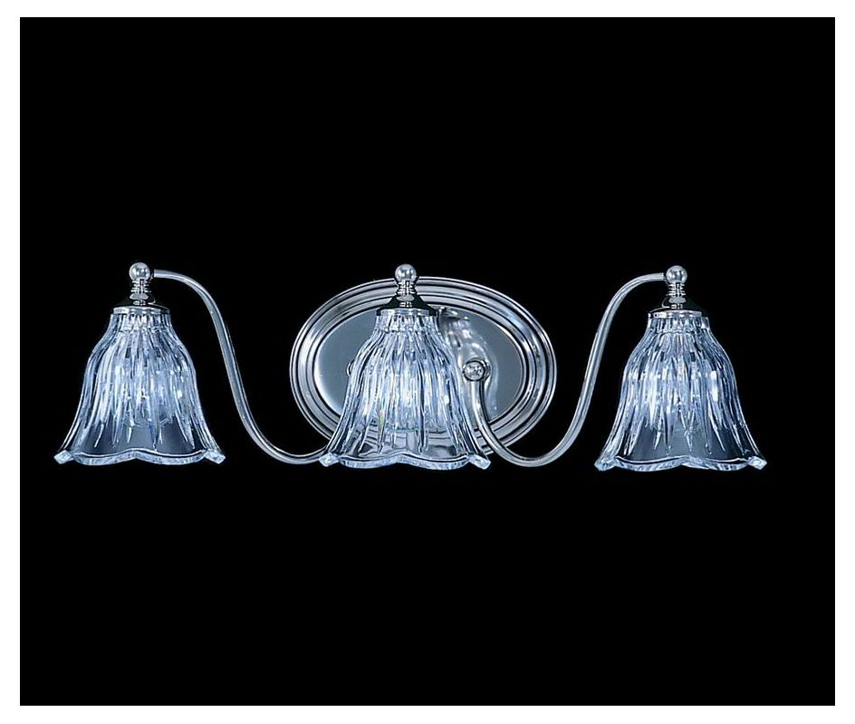 "Framburg FR 8173 3 Light 20"" Wide Bathroom Fixture from the Crystal"