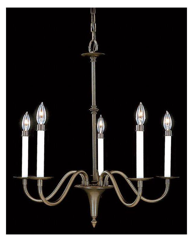 Framburg FR 9225 Williamsburg 5 Light Up Lighting Chandelier from the