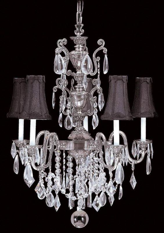 Framburg FR 9285 Crystal 5 Light Up Lighting Chandelier from the Sale $2900.00 ITEM: bci303200 ID#:9285 AS/BLACK :