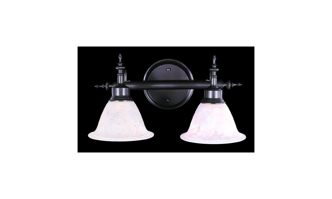 "Framburg FR 9442 2 Light 17"" Wide Bathroom Fixture from the Provence"