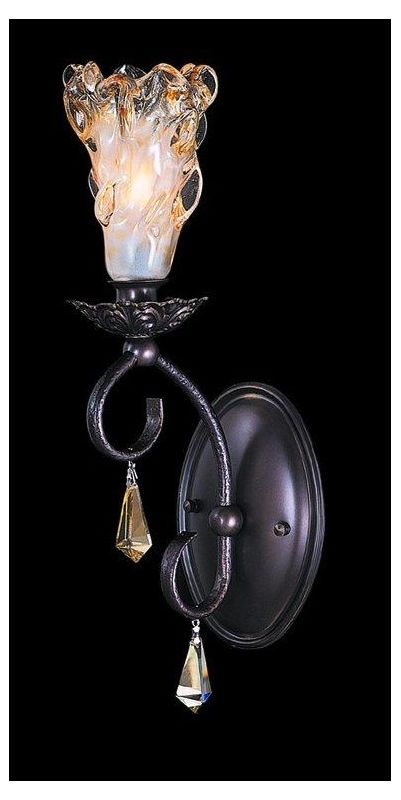 Framburg FR 9721 Crystal Up Lighting Wall Sconce from the Rhapsody