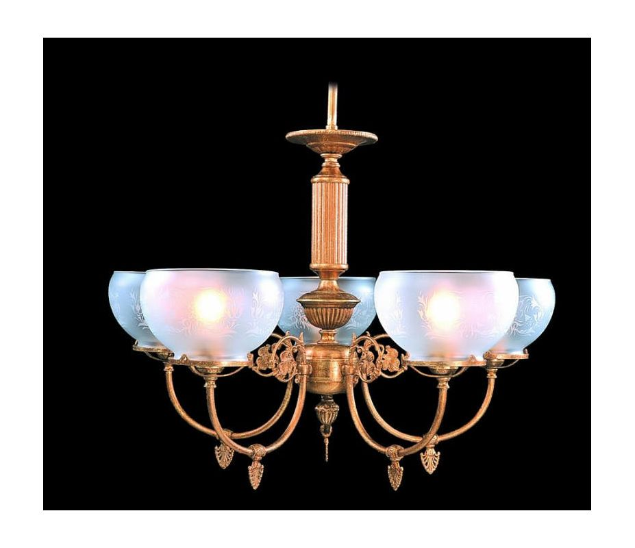 Framburg FR 7525 5 Light Up Lighting Chandelier from the Chancery