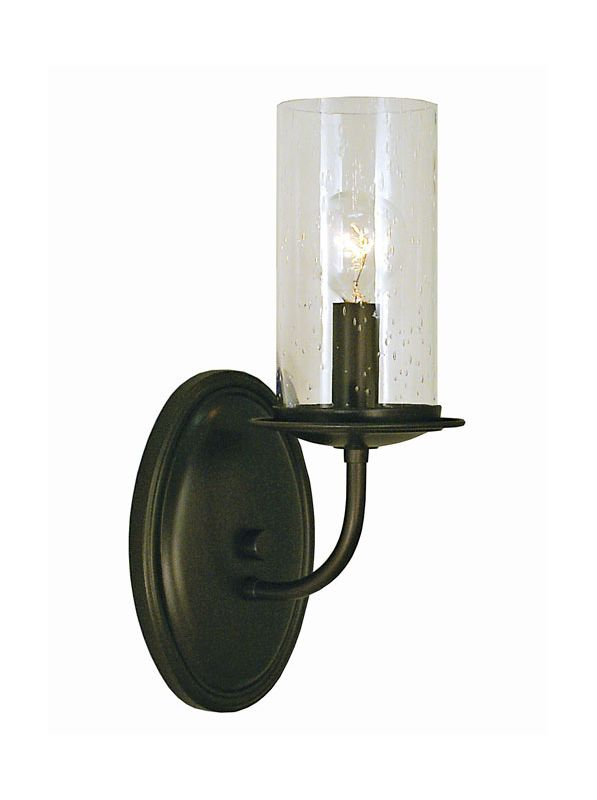 "Framburg 1041 Compass 1 Light 11"" Tall Wall Sconce Charcoal Indoor"