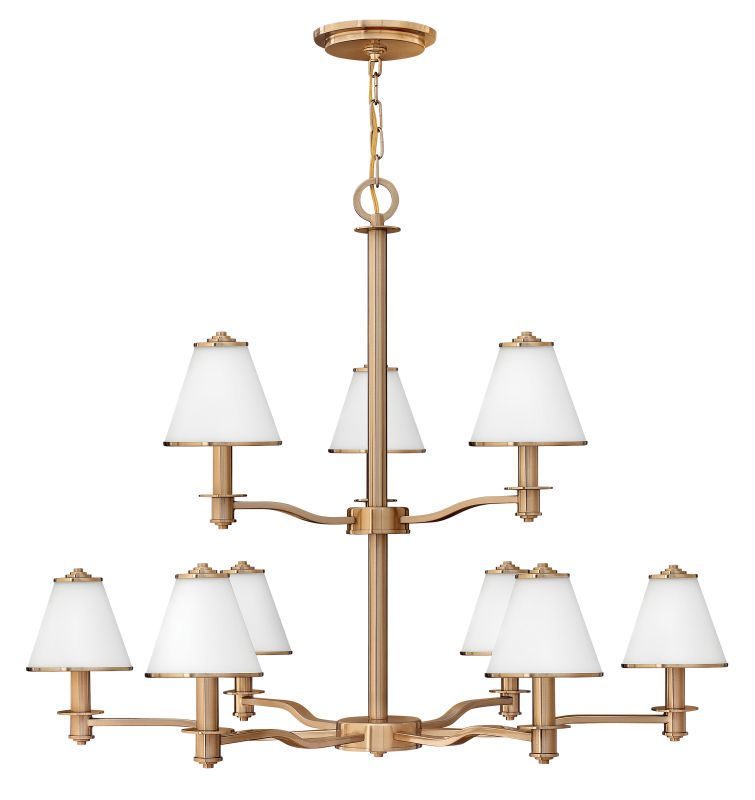 Fredrick Ramond FR43608 9 Light 2 Tier Chandelier from the Coco
