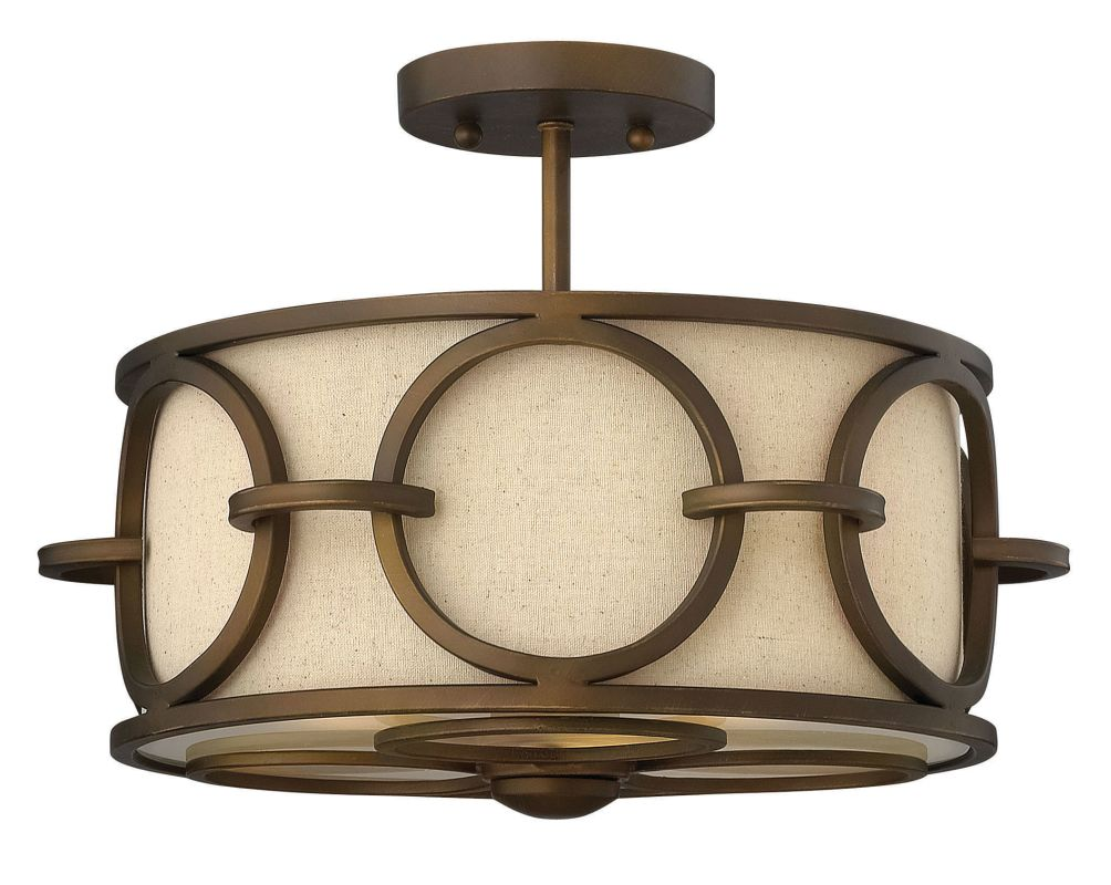 Fredrick Ramond FR42401 3 Light Semi-Flush Ceiling Fixture from the