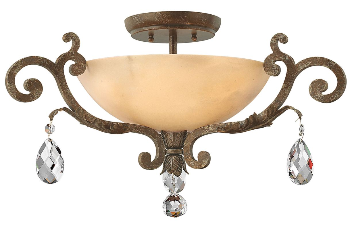 Fredrick Ramond FR44104 3 Light Semi-Flush Ceiling Fixture from the Sale $1159.00 ITEM: bci612570 ID#:FR44104FRM UPC: 640665900538 :