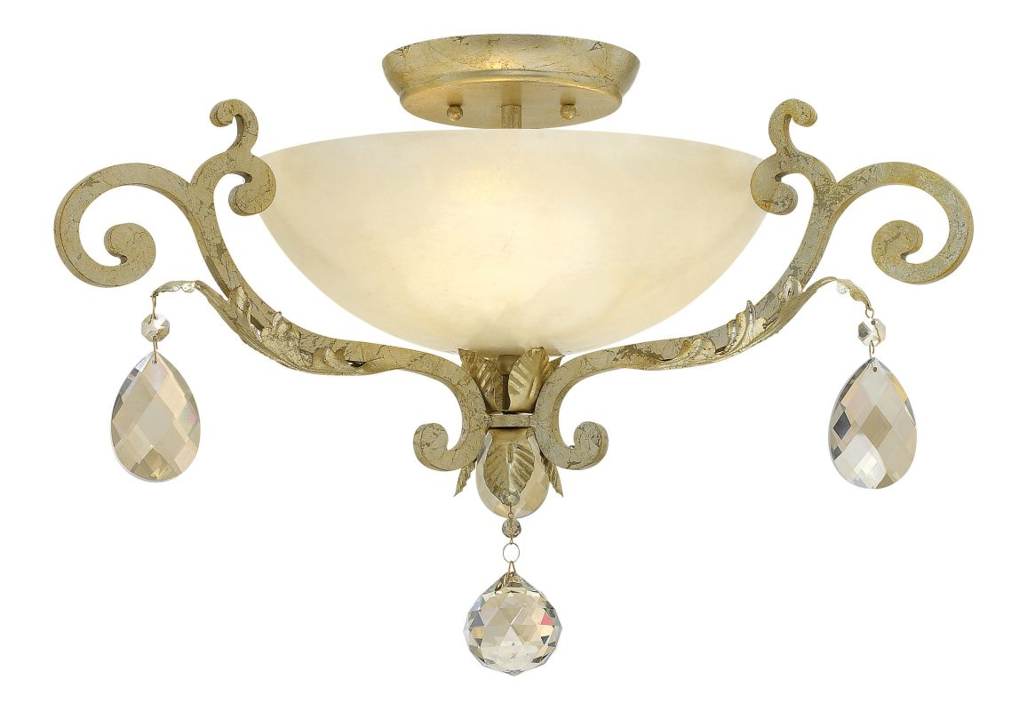 Fredrick Ramond FR44104 3 Light Semi-Flush Ceiling Fixture from the Sale $1299.00 ITEM: bci2234025 ID#:FR44104SLF UPC: 640665908251 :