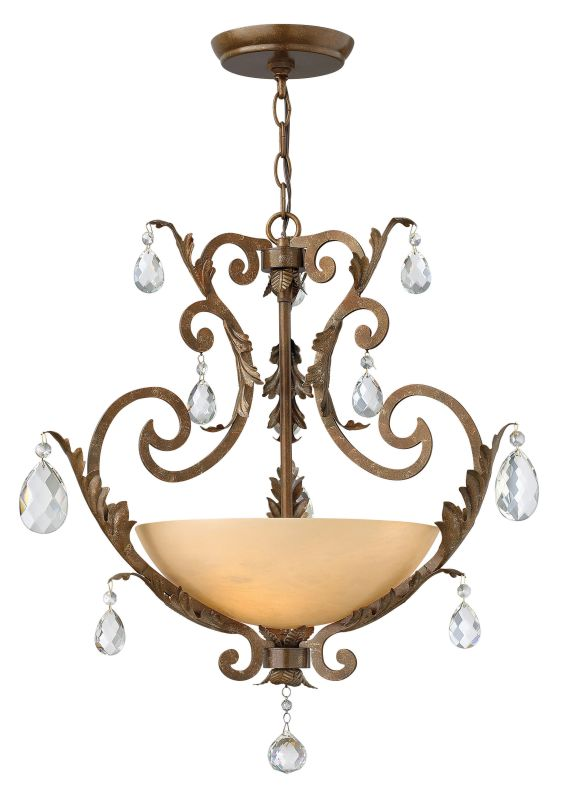 Fredrick Ramond FR44105 3 Light Pendant from the Barcelona Collection