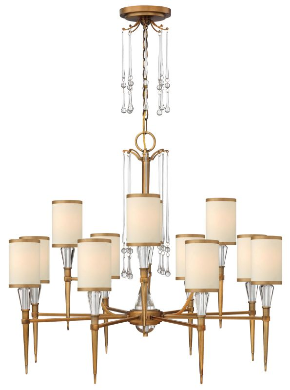 Fredrick Ramond FR44508 12 Light 2 Tier Chandelier from the Bentley