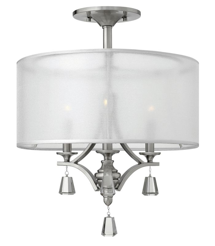 Fredrick Ramond FR45601 3 Light 1 Tier Drum Chandelier from the Mime