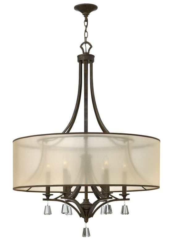 Fredrick Ramond FR45608 6 Light 1 Tier Drum Chandelier from the Mime
