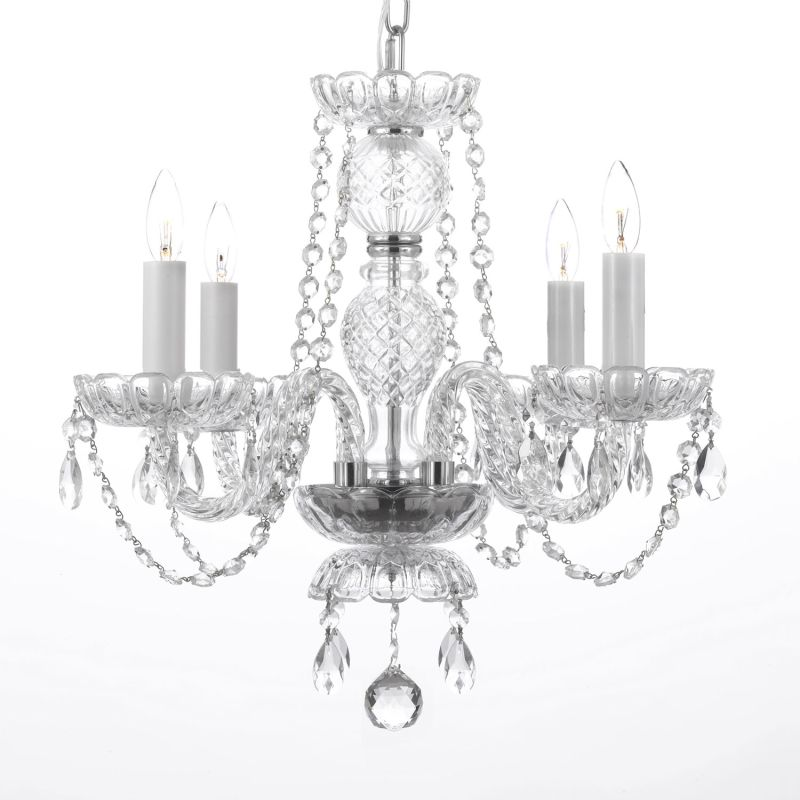 Gallery 275-4 4 Light 1 Tier Murano Venetian Style All-Crystal