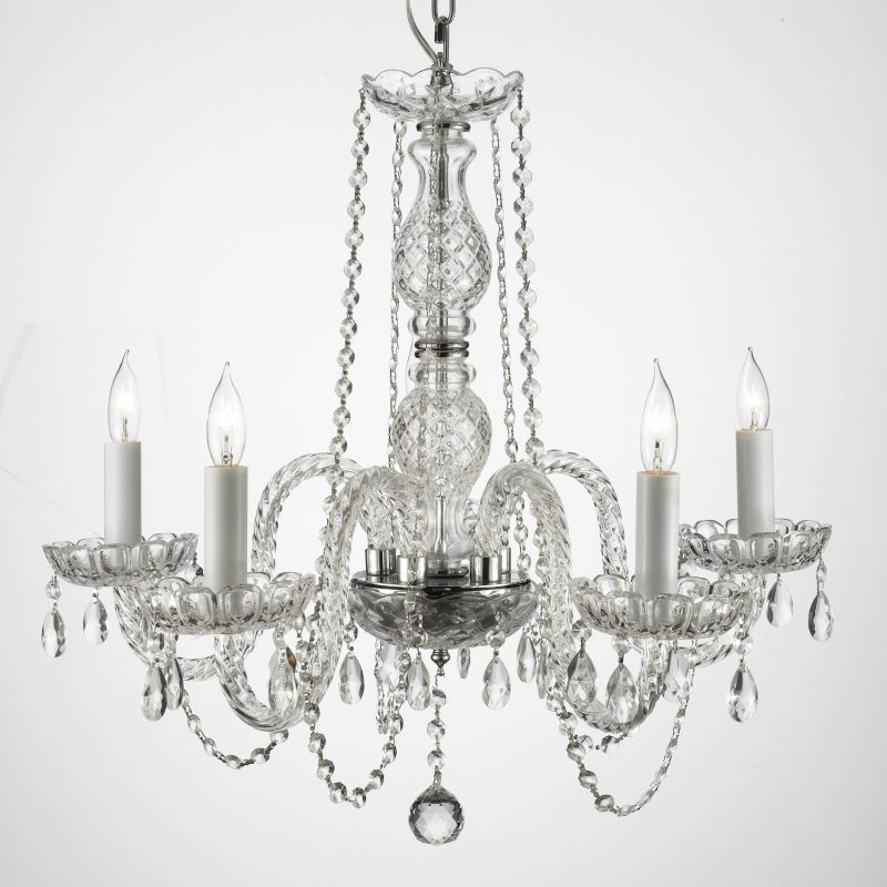 Gallery 384-5 5 Light 1 Tier Murano Venetian Style All-Crystal