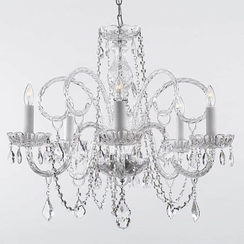 Gallery 385-5 5 Light 1 Tier Murano Venetian Style All-Crystal