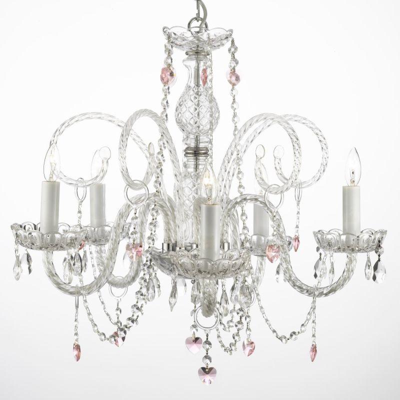 Gallery 387-5 5 Light 1 Tier Murano Venetian Style All-Crystal