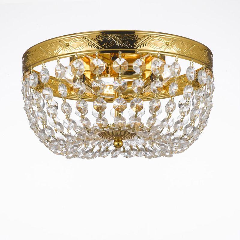 Gallery T40-458 3 Light 1 Tier Crystal Chandelier Gold Indoor Lighting Sale $83.00 ITEM: bci2673428 ID#:T40-458 UPC: 683405249016 :