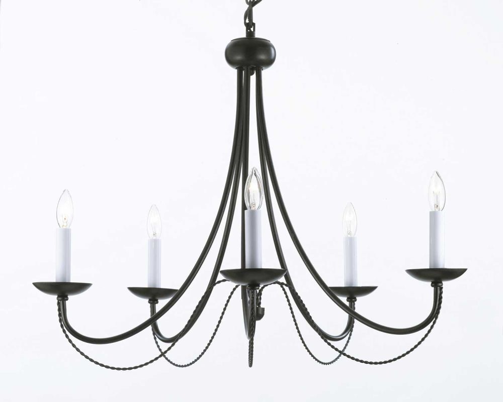 Gallery T40-574 5 Light 1 Tier Chandelier - Swag Plug-In Kit Included Sale $127.00 ITEM: bci2673412 ID#:T40-574 UPC: 791102615673 :