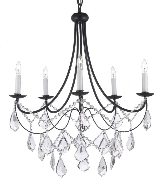 "Gallery T22-1079 Versailles 5 Light 26"" Wide Single Tier Chandelier"
