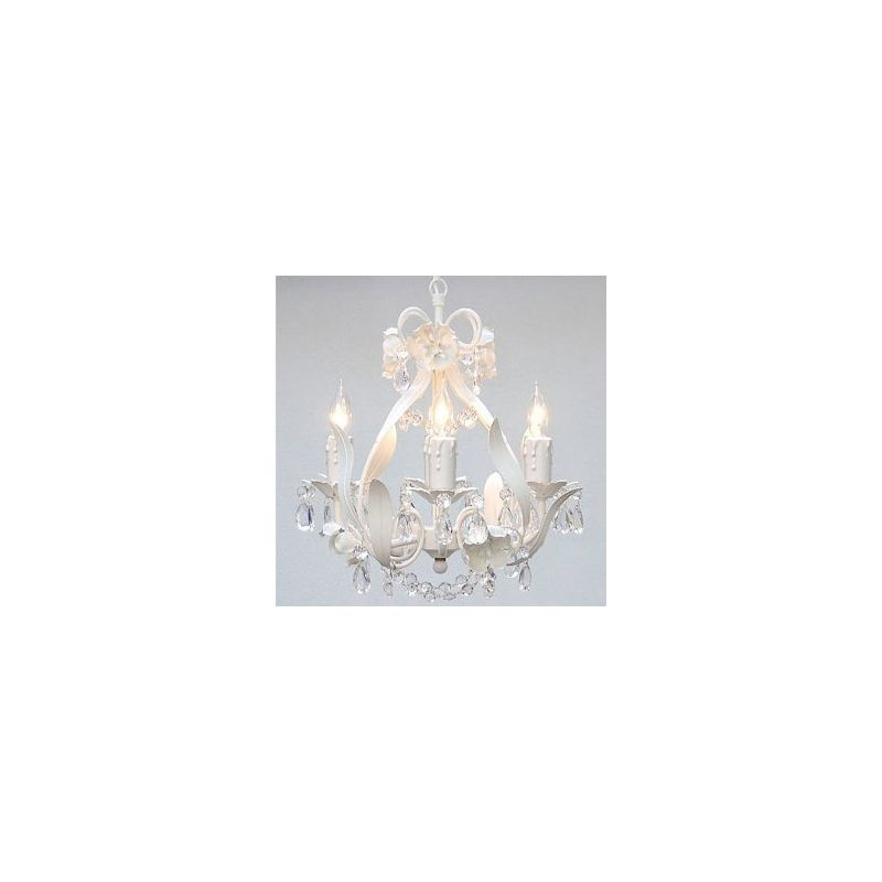"Gallery T22-1101 4 Light 11"" Wide Single Tier Plug-In Chandelier with"