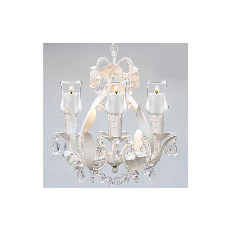 """Gallery T22-1109 4 Light 11"""" Wide Single Tier Chandelier with Crystal"""