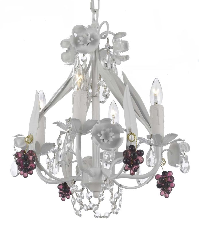 """Gallery T22-1116 4 Light 11"""" Wide Single Tier Chandelier with Crystal"""