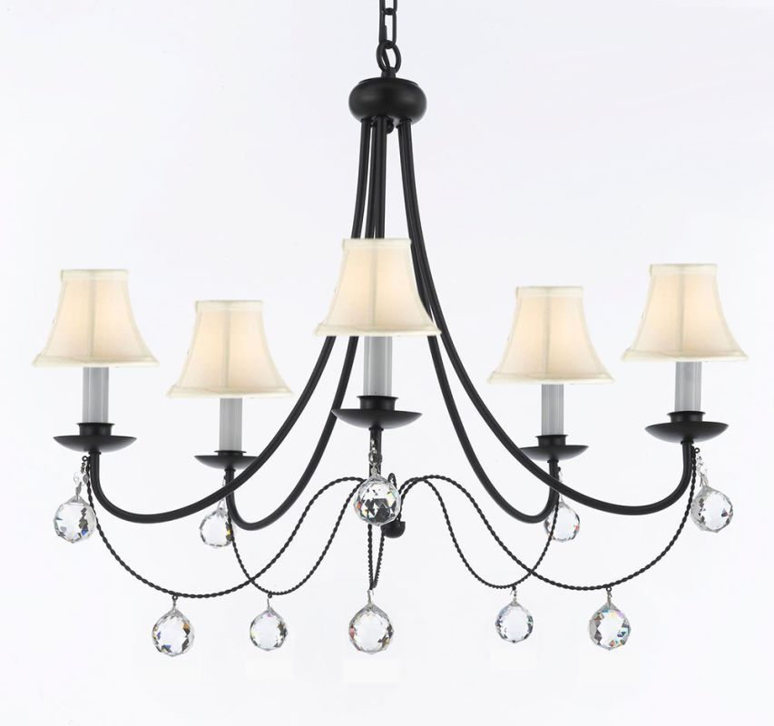 "Gallery T22-1163 Versailles 5 Light 26"" Wide Single Tier Chandelier"