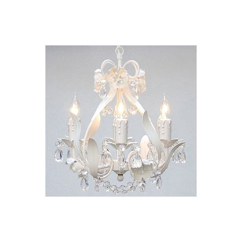 """Gallery T22-1169 4 Light 11"""" Wide Single Tier Chandelier with Crystal"""
