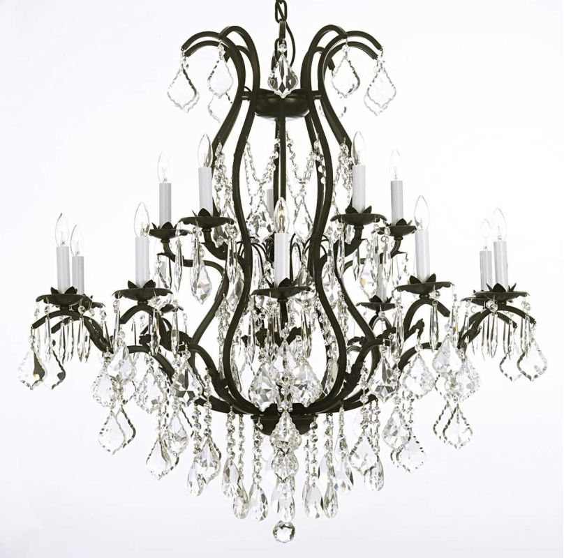 "Gallery T22-1186 Versailles 15 Light 36"" Wide 2 Tier Chandelier with"