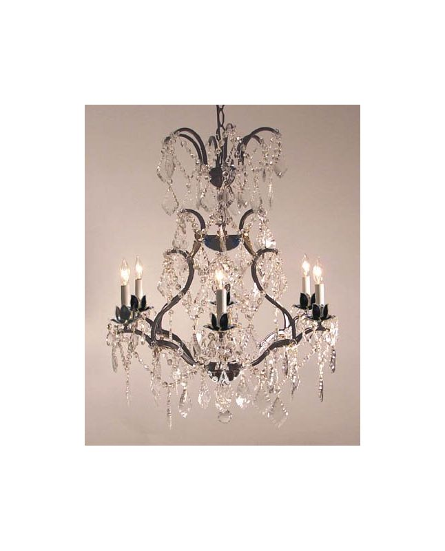 """Gallery T22-1194 6 Light 23"""" Wide Single Tier Chandelier with Crystal"""