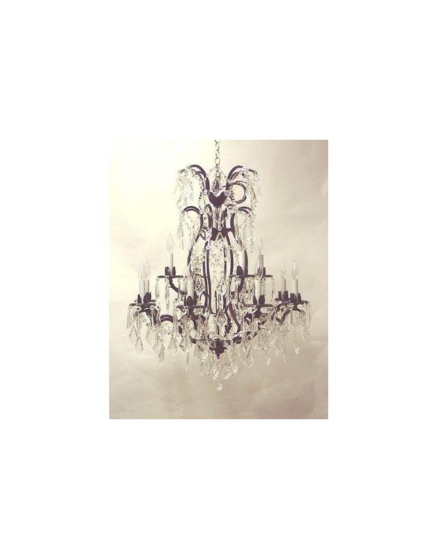 """Gallery T22-1197 Versailles 12 Light 28"""" Wide 2 Tier Chandelier with"""