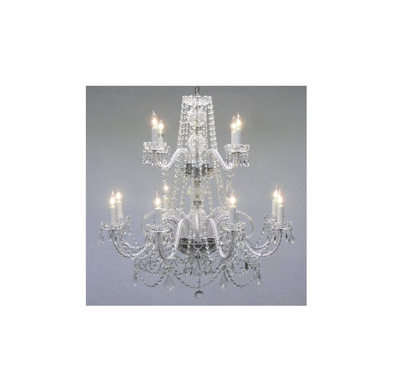 Gallery T40-113 Authentic 12 Light 2 Tier Chandelier with Clear Sale $473.00 ITEM: bci2431928 ID#:T40-113 UPC: 738759833715 :