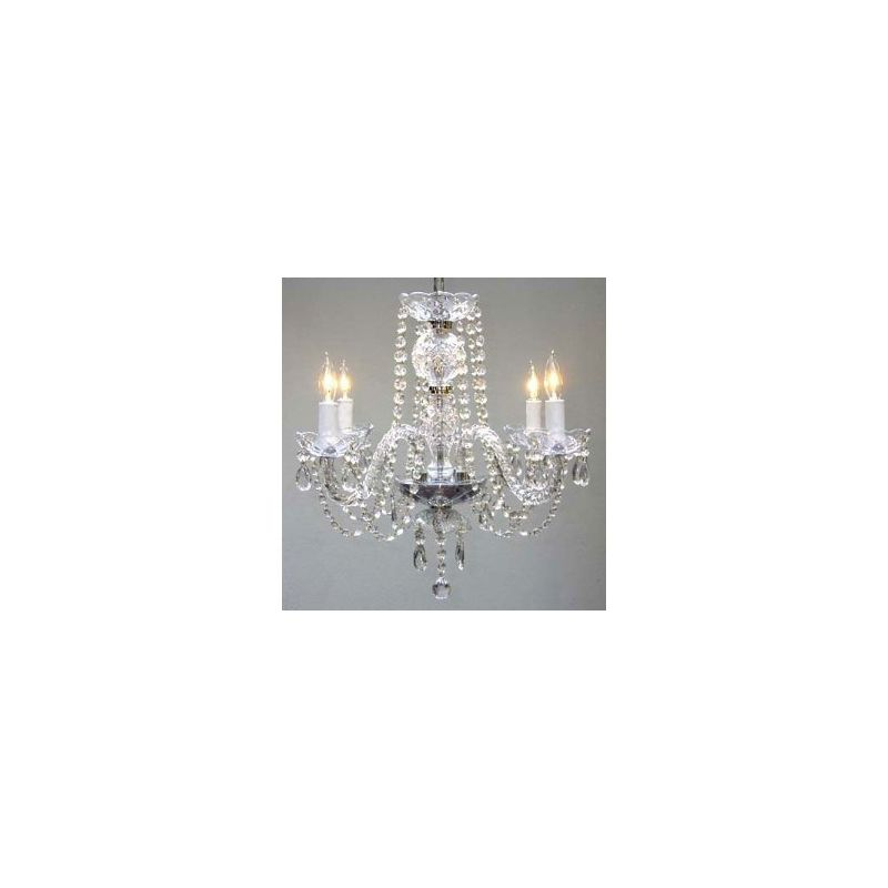 Gallery T40-120 Authentic 4 Light 1 Tier Crystal Chandelier - Swag Sale $165.00 ITEM: bci2431935 ID#:T40-120 UPC: 738759835139 :