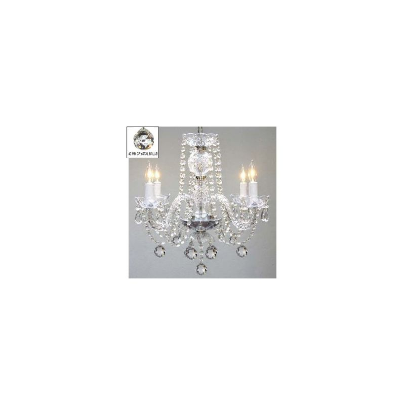 Gallery T40-123 Murano Venetian 4 Light 1 Tier Crystal Candle Style