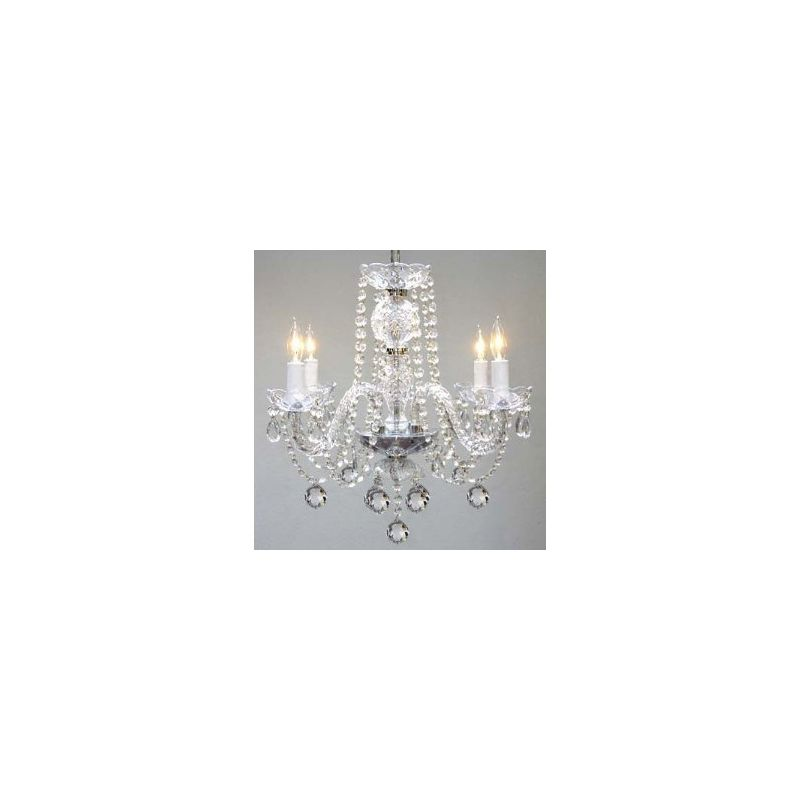 Gallery T40-128 Murano Venetian 4 Light 1 Tier Crystal Candle Style