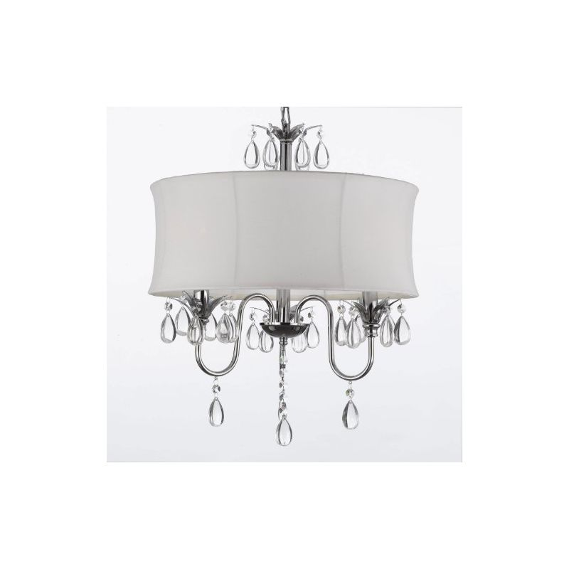 Gallery T40-167 3 Light 1 Tier Crystal Drum Chandelier with Clear Sale $145.37 ITEM: bci2431982 ID#:T40-167 UPC: 738759832145 :