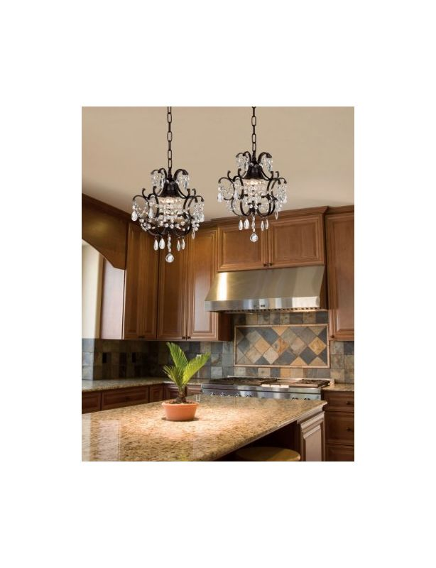 Gallery T40-184 Pack of 2 1 Light 1 Tier Crystal Mini Chandelier with