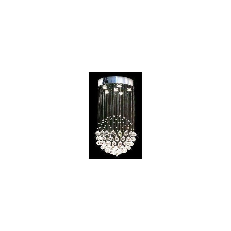 Gallery T40-228 Modern 6 Light 1 Tier Crystal Chandelier with Clear